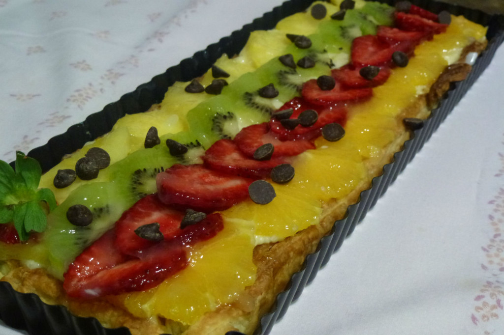 Banda de fruites i crema 1