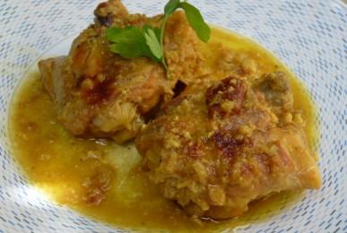 pollastre en pepitoria